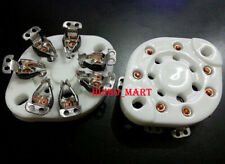 2Pcs 7Pin Silver plated Ceramic Vacuum Tube Amp Socket For 1625 Fu25 826 832