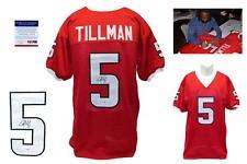 Charles Tillman SIGNED Red Jersey - PSA/DNA - ULL Ragin Cajuns Autograph