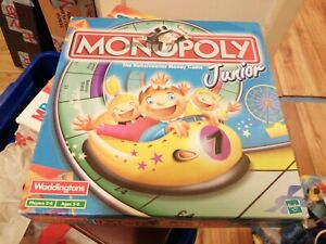 Monopoly Junior Board Game Complete And Checked With no Instructions  Xmas