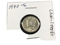 1940-S Mercury 90% Silver Dime-BU-Full Bands-(Set Break)-032221-0047