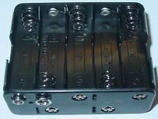 Support de batterie, batterie encadré 10 x Mignon AA 15/12v, bouton poussoir port, d68