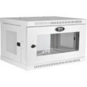 Tripp Lite 6u Wall Mount Rack Enclosure Cabinet White W/ Acrylic Glass Door -