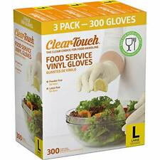Clear-Touch Food Service Vinyl Gloves, Large, 300 ct