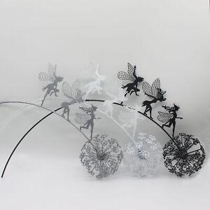 Fairies And Dandelions Dance Together Statue Garden Ornament Sculpture Decor