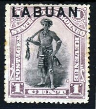 LABUAN Queen Victoria 1894-96 LABUAN Overprint 1c. North Borneo P14½ SG 62 MNG