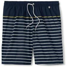 6e87422720 new LANDS END mens print volley swim trunks shorts L 36 38 NAUTICAL STRIPE
