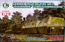 """UM Technics 1:72 OB-3 """"Railroader"""" (Zheleznodorozhnik) Armoured Train Model Kit"""