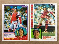 Carlton Fisk Topps Baseball Card Lot(2): '83 & '84. White Sox