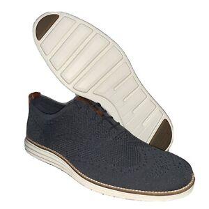COLE HAAN Men's Original Grand Stitchlite Wingtip Shoes Size 13 Gray C27961