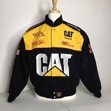 Mens L NASCAR Jacket 22 JH Racing Twill Racing Varsity Winston Cup Davis CAT