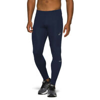 Asics Mens Race Running Tights Bottoms Pants Trousers - Navy Blue Sports
