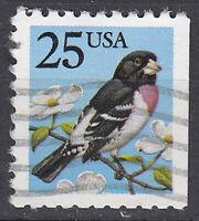 USA Briefmarke gestempelt 25c Vogel Tier / 1451