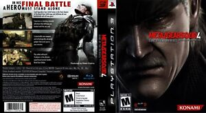 Metal Gear Solid 4 Guns of the Patriots PS3 Playstation 3 Replacement COVER ONLY