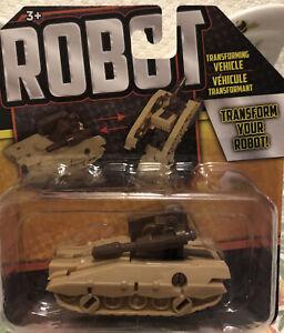 Robot Transforming Vehicle  (Brown Tank)   NEW   Transform Your Robot!!