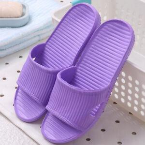 Womens Home Floor Slippers Shoes Sandals Flat Indoor Bath Shower Summer Sliders❥