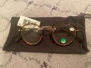 prescription glasses with tortoiseshell arms +1.50