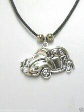 """VW Beetle Herbie AUTO Collana/Ciondolo & 18"""" Cerato Cotone Corda/gioielli fatti a mano"""