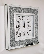 ❣️MIRROR CRUSHED DIAMOND SILVER CRUSHED CRYSTAL FILLED SPARKLY 40X40CM ❣️