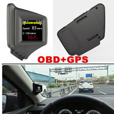 2 in 1 Heads Up Display HUD Screen Car Vehicle Speed OBD & GPS Monitor System