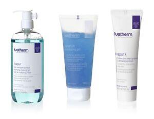 Ivapur Kit - Purifying cleansing gel, Exfoliating gel, cream acne-prone skin