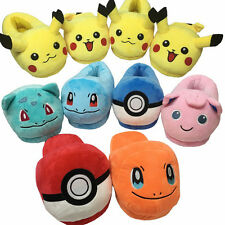 Pokemon Go Pikachu Squirtle Warm Indoor Home Shoes Soft Plush Slippers Xmas Gift