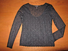 L LACE Victoria's Secret OFFICE CASUAL Lined Top BLOUSE LONG SLEEVE GORGEOUS NEW