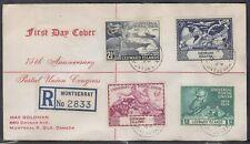 Leeward Is.- Montserrat Scott 126-9 FDC - 1949 UPU 75th Anniversary