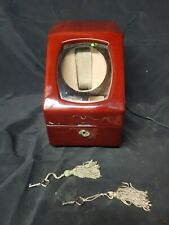 2 keys and power adapter -works Landmark Burlwood Automatic Watch Winder with