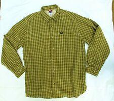 The North Face Men's Sz M Green & Black LS BF Plaid Shirt Very Nice