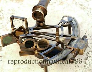 Maritime Working Sextant KELVIN & HUGHES Nautical Solid Brass Astrolabe Sextant