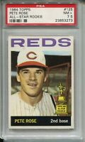1964 Topps Baseball Card #125 Pete Rose All-Star Rookie Graded PSA Nr MINT+ 7.5