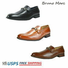 Bruno MARC Men's Formal Modern Classic Slip On Leather Lined Loafers Dress Shoes
