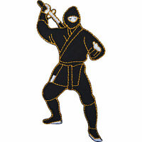 Ninja Patch Embroidered Badge Japan Iron On / Sew On Motorcycle Motorbike Jacket