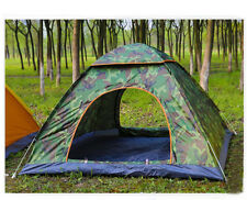 3-4 Persons Army Green POP UP 1'S Sunscreen Outdoor Beach Camping Hiking Tent #