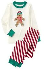 Gymboree Boys 10 Gingerbread Boy Holiday Gymmies Sleep Set Pajamas PJs NEW NWT