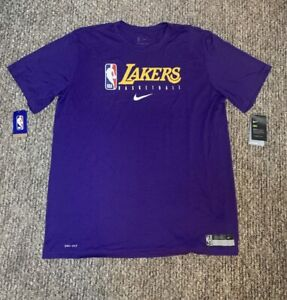 Nike Lakers Shooting Shirt Warm Up New Size 2XLT NBA Team Issued Pro-cut LA