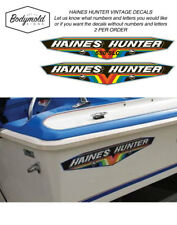 HAINES HUNTER Vintage Decals Early 1980's 490 SLR to 580 SLR