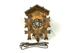 Vintage Cuckoo Clock West Germany Regula 25-73 For Parts or Rebuild