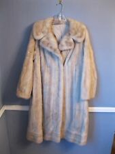CLASSIC White MINK fur coat stroller Large jacket