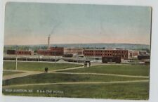 1914 Milo Junction Maine Boston & Albany Car Works Railroad shops Postcard