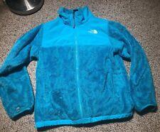 The North Face Girl'S Xl Osito Jacket Denali Fuzzy Xl Deep Blue Full Zip
