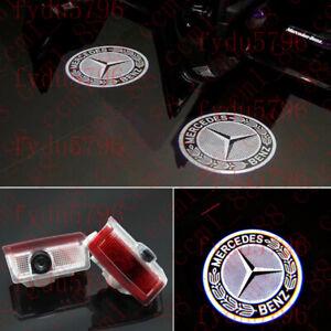 2X Led light Door Laser Projector Logo For Mercedes-Benz W212 E320 E350 E63 E550