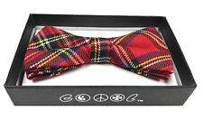 Red Stripe Men Women Bowtie Classic Clip-On Neck-wear Tuxedo Adjustable