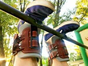 Leather Inversion Boot Gravity Guiding System Pair Boots Ankle Holders 390 LB
