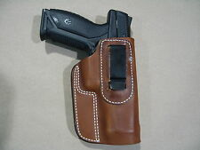 Ruger American Pistol IWB Leather In Waistband Concealed Carry Holster TAN RH