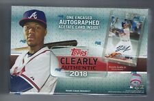 2018 Topps Clearly Authentic Factory Sealed Box