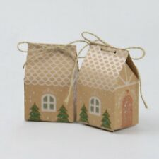 10pcs Christmas Candy Gift Bags Xmas Cookie Bag Packaging Party Boxes Sweets Box