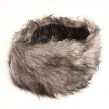 Ladies Winter Warm Faux Fur Headband in Grey Mix