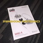 BrandNewAuthentic PSB M4U4 M4U 4 High-Definition In-Ear Monitor (Arctic White)