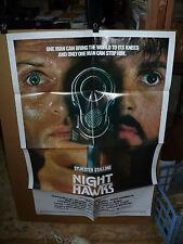 NIGHTHAWKS, orig 1-sht / movie poster (Sylvester Stallone, Billy Dee Williams)